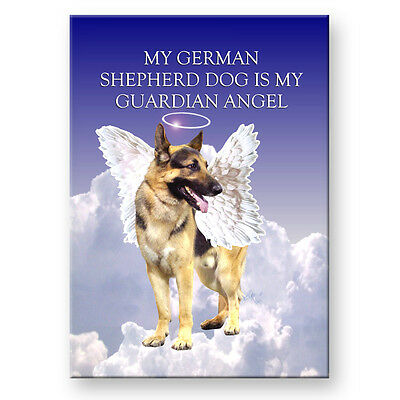 GERMAN SHEPHERD DOG Guardian Angel FRIDGE MAGNET New