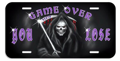 Grim Reaper License Plate Personalize Any Name Or Text In Any Color Your Design