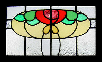 Beautiful Mackintosh Rose English Antique Stained Glass Window