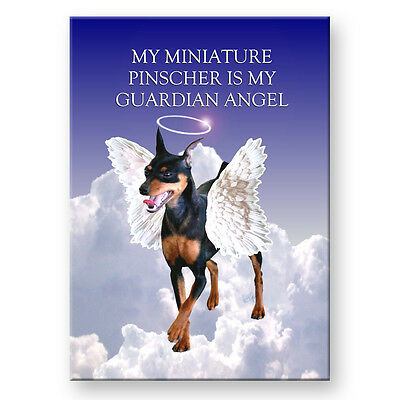 MINIATURE PINSCHER Guardian Angel FRIDGE MAGNET No 2 DOG Pet Loss