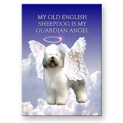 OLD ENGLISH SHEEPDOG Guardian Angel FRIDGE MAGNET Dog Pet Loss
