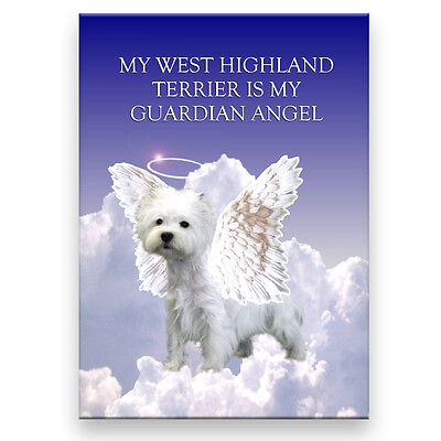 WEST HIGHLAND TERRIER Guardian Angel FRIDGE MAGNET