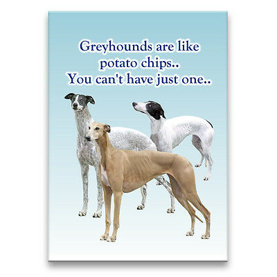 GREYHOUND Can't Have Just One FRIDGE MAGNET New DOG