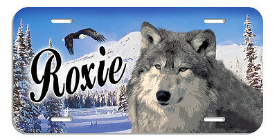 Wolf Moon Auto License Plate Personalize Name-Text In Many Colors Available
