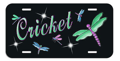 Dragonflies Auto License Plate Personalize Gifts Ladies Dragonfly Any Name Text