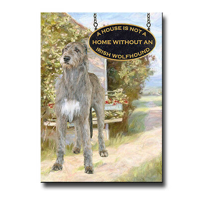 IRISH WOLFHOUND House Is Not A Home FRIDGE MAGNET Dog