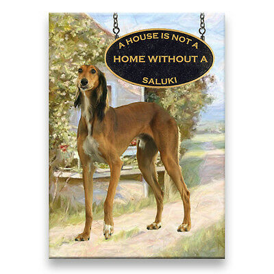 SALUKI A House Is Not A Home FRIDGE MAGNET New DOG