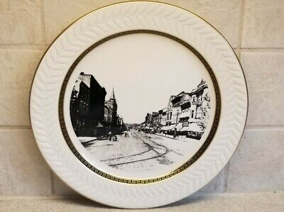 Lancaster Ohio Main Street 1910 Plate Shenango China