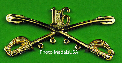 16th Cavalry Crossed Sabers Large Hat Pin