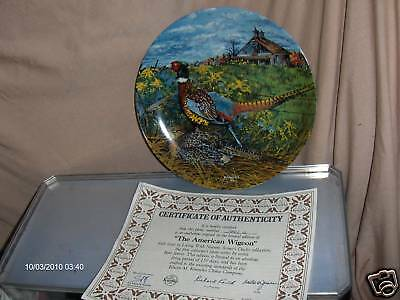 Knowles Collector Plate 1986 The Pheasant Upland Birds