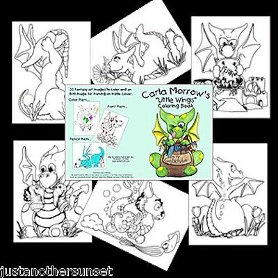 Baby Dragon Little Wings Coloring Book Carla Morrow NEW