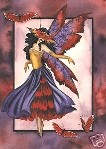 Amy Brown Print Fairy Masquerade Butterfly Retired HTF