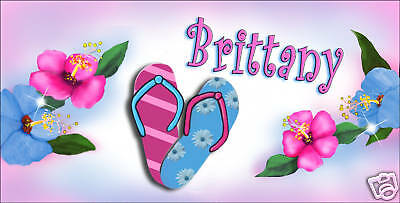 Sandals Flip Flops Pastel Colors Auto License Plate Personalize Any Name Or Text