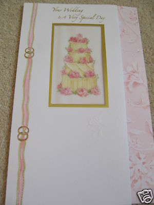 Beautiful Worded & Cake Your Wedding Day Card