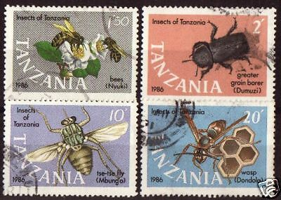 Tanzania1987 Insects Set Of 4 Used