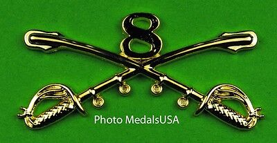 8th Cavalry Crossed Sabers Large Hat Pin
