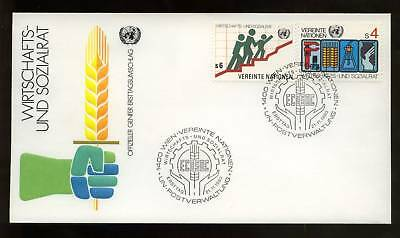 United Nations Vienna 1980 Economic Social Council FDC