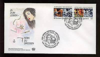 United Nations Vienna 1987 Anti-Drugs Campaign FDC