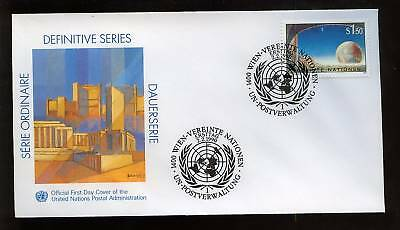 """United Nations Vienna 1990 Painting """"Earth"""" FDC"""