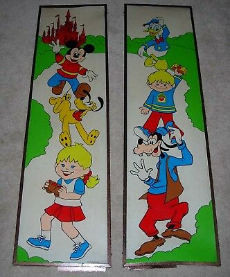 Vintage Disney  Hostess Advertising Signs  Pair  1980  Twinkies