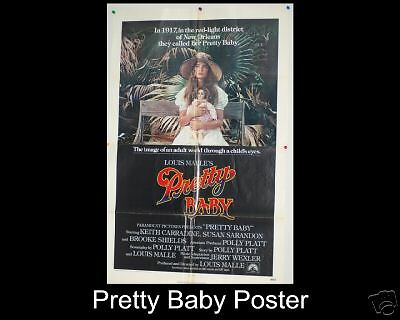 1978 Pretty Baby Brooke Shields ORIGINAL Movie Poster In Good Shape