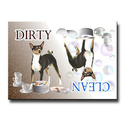 BASENJI Clean Dirty DISHWASHER MAGNET No 2 New Dog