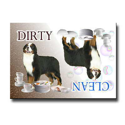 BERNESE MOUNTAIN DOG Clean Dirty DISHWASHER MAGNET New