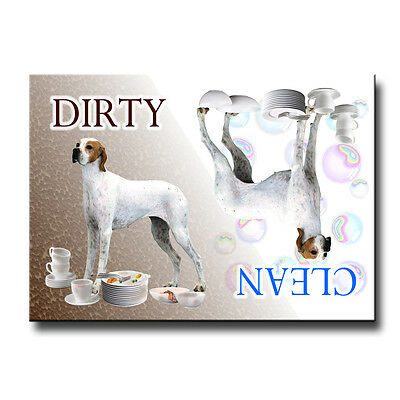 ENGLISH POINTER Clean Dirty DISHWASHER MAGNET No 2 DOG