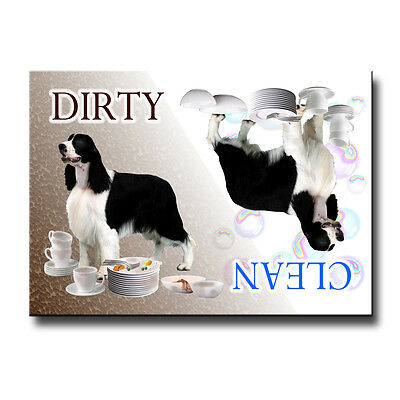 ENGLISH SPRINGER Clean Dirty DISHWASHER MAGNET No 1
