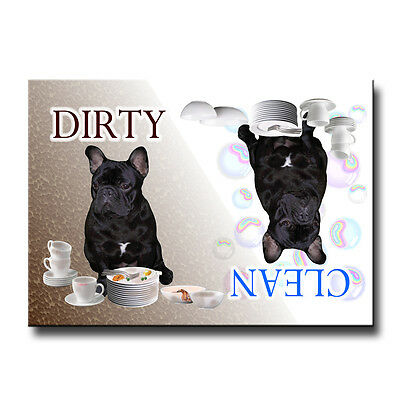 FRENCH BULLDOG Clean Dirty DISHWASHER MAGNET No 2