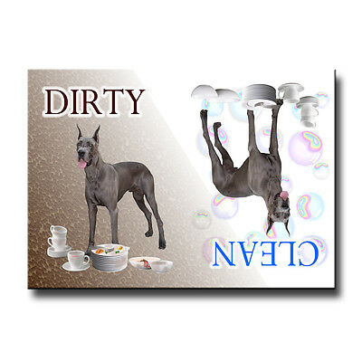 GREAT DANE Clean Dirty DISHWASHER MAGNET No 1 Dog