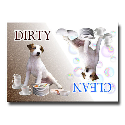 JACK RUSSELL TERRIER Clean Dirty DISHWASHER MAGNET Dog