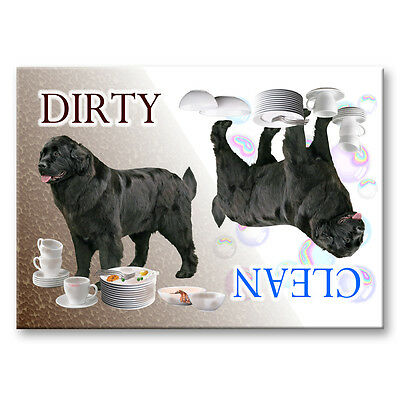 NEWFOUNDLAND Clean Dirty DISHWASHER MAGNET No 2 Black