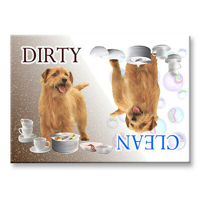 NORFOLK TERRIER Clean Dirty DISHWASHER MAGNET New DOG