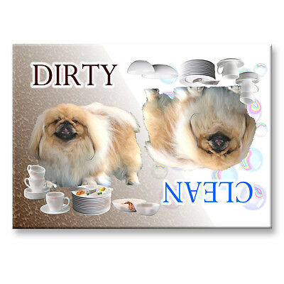 PEKINGESE Clean Dirty DISHWASHER MAGNET Must See DOG