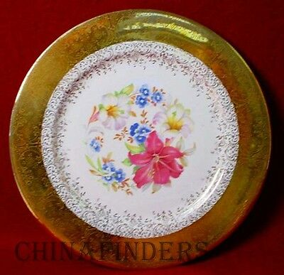 EDGEWOOD Iroquois China EWD9 FLORAL pttrn DINNER PLATE