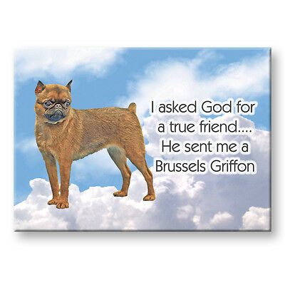 BRUSSELS GRIFFON True Friend From God FRIDGE MAGNET No 1