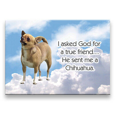 CHIHUAHUA True Friend From God FRIDGE MAGNET No 1 DOG
