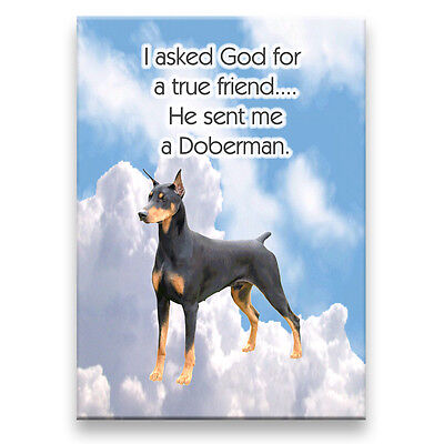 DOBERMAN PINSCHER True Friend From God MAGNET No 1 Blk