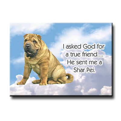 SHAR PEI True Friend From God FRIDGE MAGNET New DOG