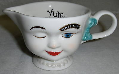 1996 Limited Edition Bailey's Creamer Winking Girl NICE