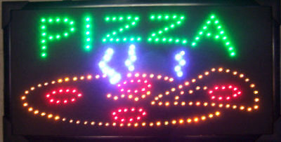 LED PIZZA SIGN light up motion flashing display signs advertise window l e d new