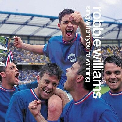 "ROBBIE WILLIAMS ""SING WHEN YOUR WINNING"" NEW ZEALAND PROMO POSTER - 5 Robbies!"