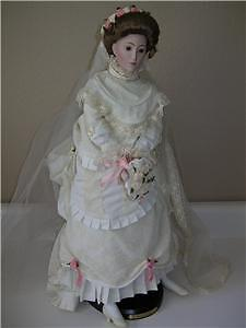 "Franklin Mint ""victorian Bride"" 22"" Doll 1987 Edition"