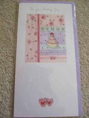 Lovely Colourful Wedding Cake Wedding Day Card