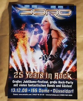 Music Flyer - Doro -25 Yrs In Rock Germany 2008 -Small