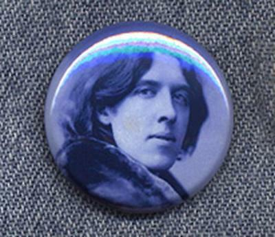 OSCAR WILDE Pin Button Badge - CLASSIC COOL!