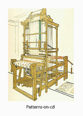 DRAW LOOM construction PLANS HAND WEAVING manual on CD