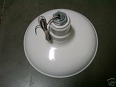 """Classic Dome 14"""" Industrial Lighting Fixture White"""