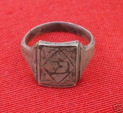 Vintage Antique Collectible Tribal Old Silver Ring Ind